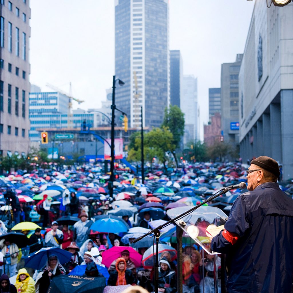 People at Walk for Reconciliation Vancouver