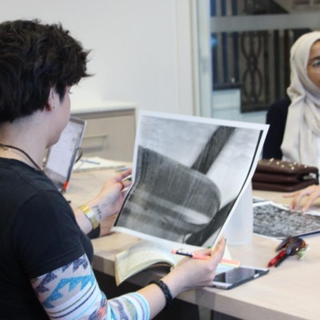 Truth and Dare Project participants making art