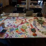 Image of painting and drawing at a SKETCH arts program.